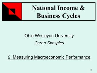 Ohio Wesleyan University Goran Skosples 2.  Measuring Macroeconomic Performance
