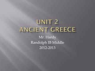 Unit 2 Ancient Greece