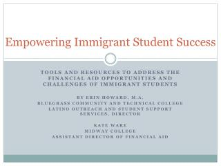 Empowering Immigrant Student Success