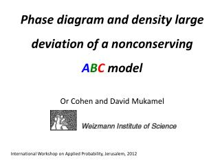 Phase diagram and density large deviation of a  nonconserving A B C  model