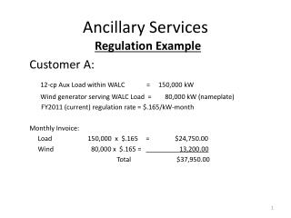 Ancillary Services
