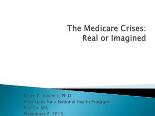The Medicare Crises: Real or Imagined