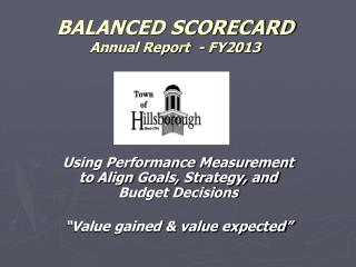 BALANCED SCORECARD  Annual Report  - FY2013