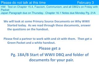 Please do not talk at this time February 3