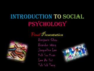 I ntroduction to Social Psychology