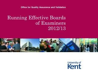 Running Effective Boards of Examiners 2012/13