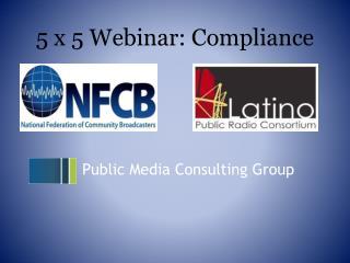 5 x 5 Webinar:  Compliance