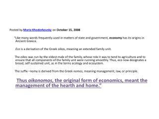 Posted by  Maria  Khodorkovsky  on  October 15, 2008