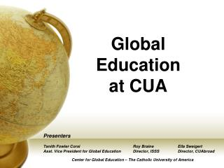 Global Education  at CUA