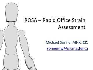 ROSA – Rapid Office Strain Assessment
