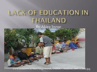 Lack of Education in Thailand