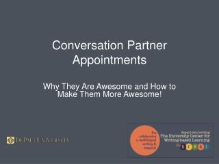 Conversation Partner Appointments