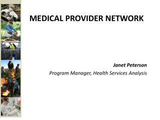 Medical provider network