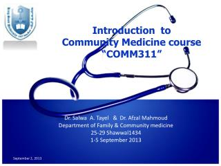 Introduction  to  Community Medicine course  �COMM311�