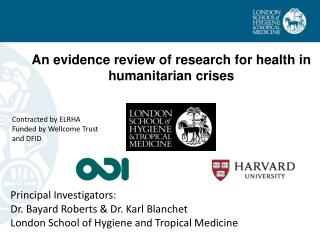 An evidence review of research for health in humanitarian crises