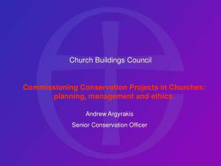 Church Buildings Council Commissioning Conservation Projects ...