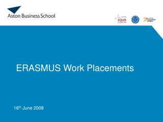 ERASMUS Work Placements