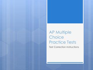 AP Multiple Choice  Practice Tests