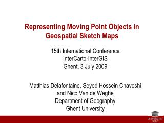 Representing Moving Point Objects in  Geospatial Sketch Maps