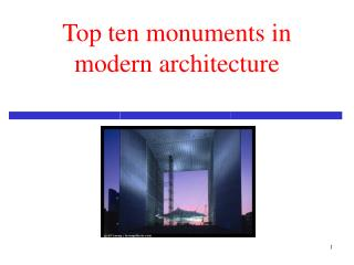 Modern Architecture 19th centuries