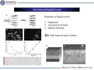 ZnO Nanorod  Liquid Crystal