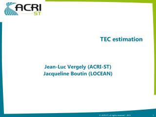 TEC estimation