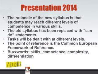 Presentation 2014