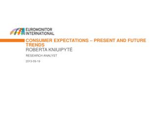 consumer expectations – present and future trends