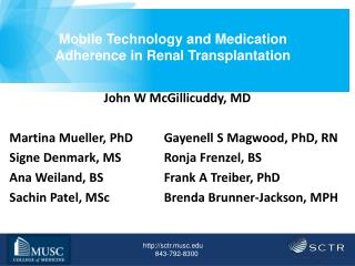 Mobile Technology and Medication Adherence in Renal Transplantation