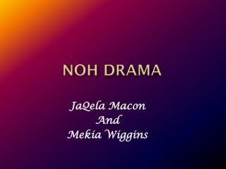 Noh Drama