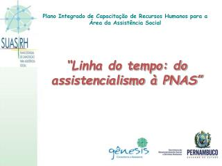 """""""Linha do tempo: do assistencialismo à PNAS"""""""