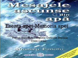 senta apei-Memoria apei