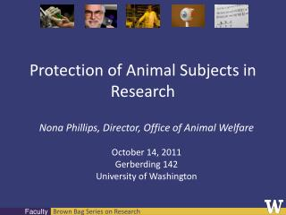 Protection of Animal Subjects in Research