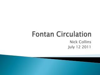 Fontan  Circulation