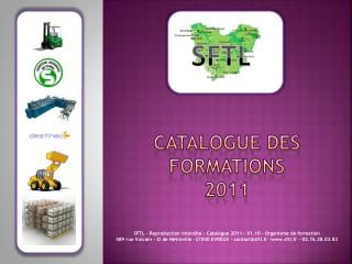 Catalogue des Formations 2011