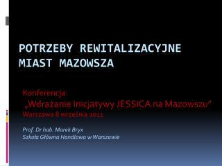 Potrzeby rewitalizacyjne miast Mazowsza