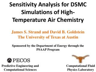 Sensitivity Analysis for DSMC Simulations of  High-Temperature  Air Chemistry