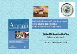 DALLA TEORIA ALLA PRATICA Celestina Martinelli Andria,  24 febbraio 2014