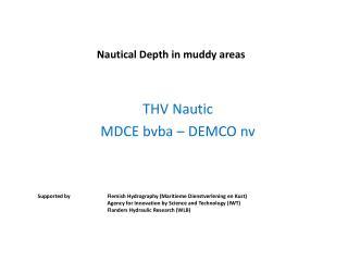 Nautical Depth  in  muddy  areas