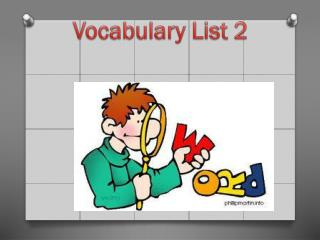 Vocabulary List 2