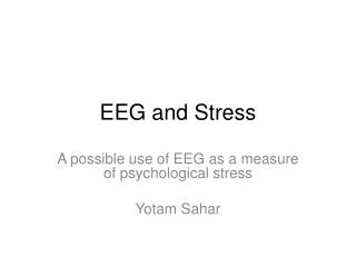 EEG and Stress