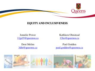 EQUITY AND INCLUSIVENESS