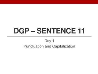 DGP � Sentence 11