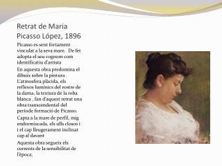 Retrat de Maria Picasso López, 1896