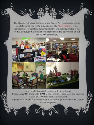 S elect student research projects will be on display