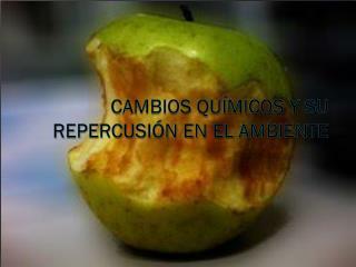 CAMBIOS QUÍMICOS Y SU REPERCUSIÓN EN EL AMBIENTE