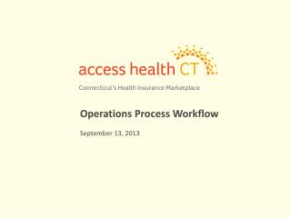 Operations Process Workflow September 13, 2013