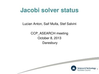 Jacobi solver status
