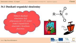 34.1 Dusíkaté organické sloučeniny