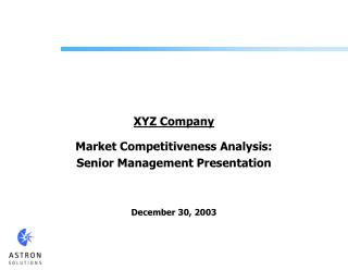 XYZ Company Market Competitiveness Analysis: